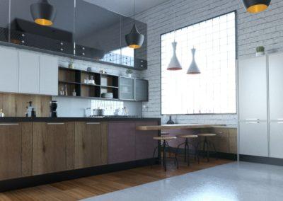 Cocina Trento Roble T09- F70 Gris Claro Vista 4